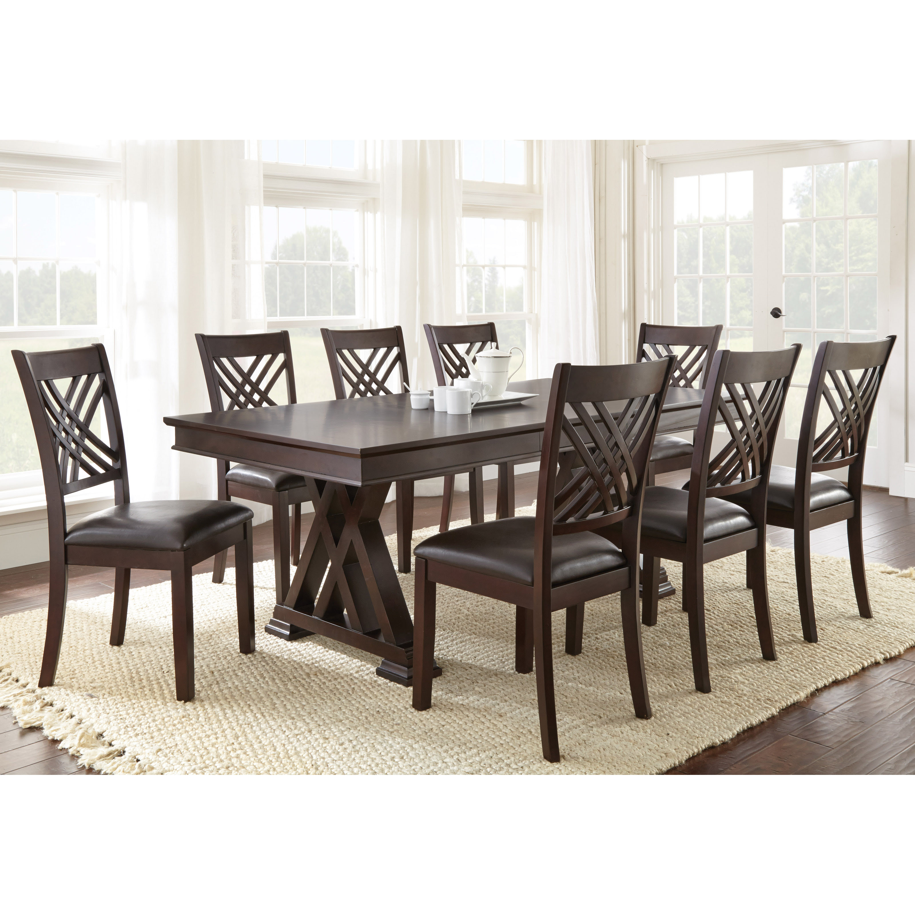 Steve Silver 9 Piece Adrian Dining Table Set  Dining Table Sets at Hayneedle
