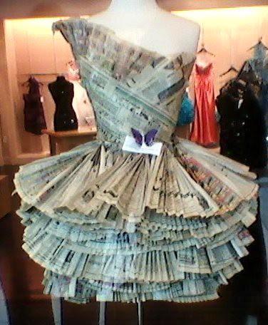 Paper Prom Dress