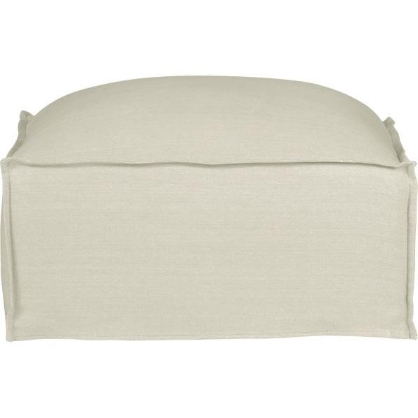 Slipcover Only for Oasis Ottoman in Ottomans, Cubes | Crate and Barrel