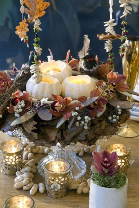 Thanksgiving Candle Centerpiece Idea   family holiday.net