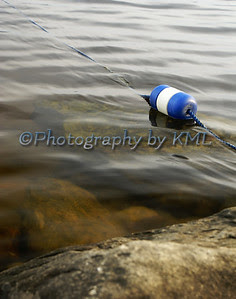 a floating buoy on the water