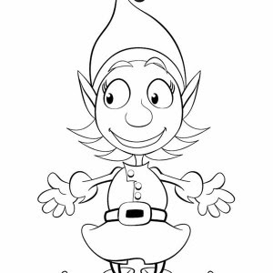 printable christmas elf coloring pages at getcolorings
