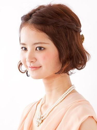 結婚式ヘアアレンジ!ショートボブのゆるふわ可愛い髪型  - ショートボブ 結婚式 ヘアアレンジ