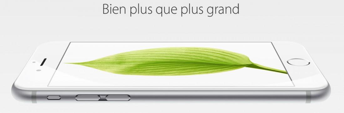 Publicité pour l'iPhone 6 (Capture d'écran Apple)