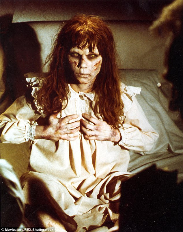 Linda Blair playing the role of a possessed Regan MacNeil in the 1973 cult classic The Exorcist
