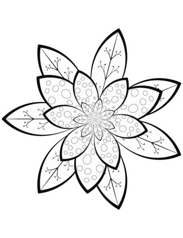 Dibujo De Patrón De Flores Para Colorear Dibujos Para Colorear