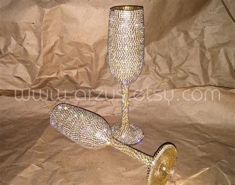 Custom Wedding Champagne Glasses Toasting Glasses Toasting