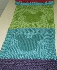 mickey mouse scarf with pattern | Flickr - Photo Sharing!
