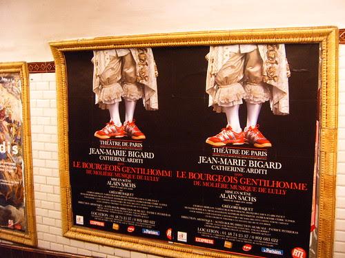 Ads on Paris Metro