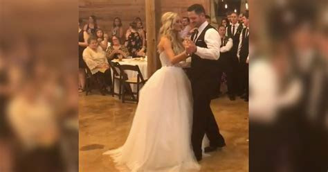 Bride And Groom Surprise Wedding Guests With Epic Dance Off