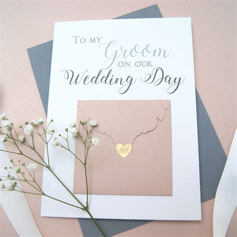 To My Groom Wedding Day Card   Shop Online   Hummingbird