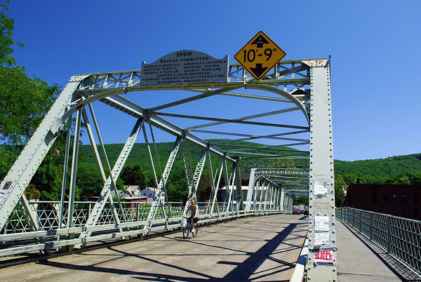 The Iron Bridge in Shelburne Falls, Massachusetts