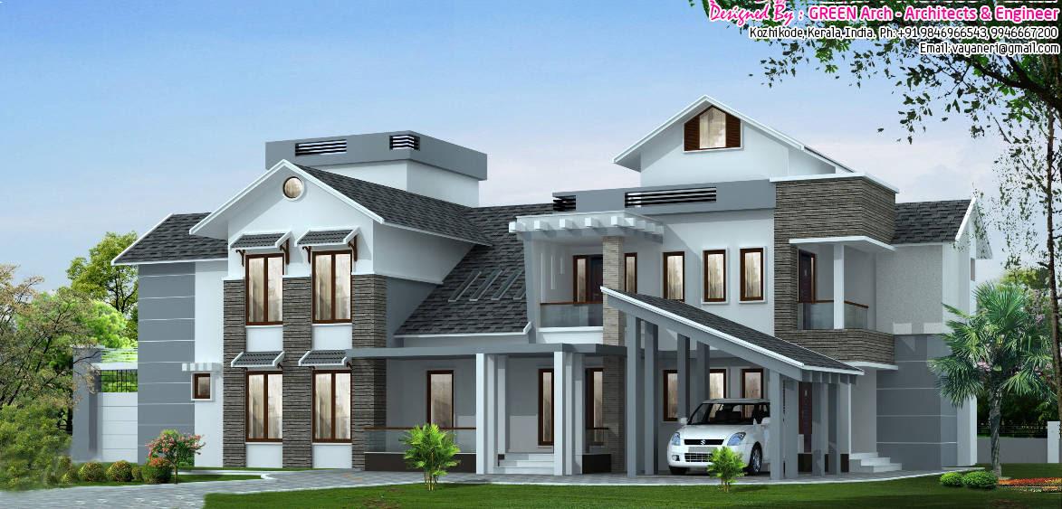 5BHK Luxury Kerala Villa design at 3700 sq.ft.