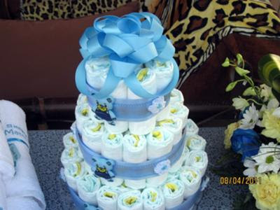 Baby Shower Diaper Cake Ideas Photos