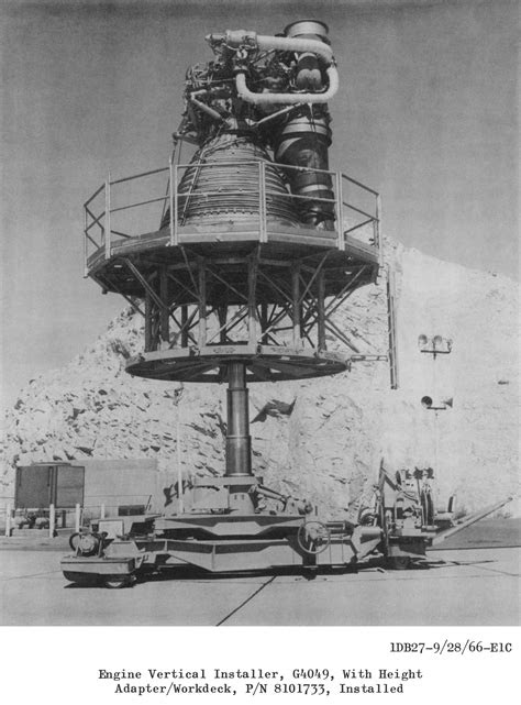F-1 Rocket Engine G4049 Engine Vertical Installer
