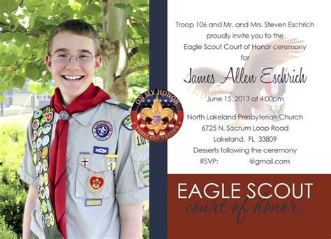126 best images about eagle scout invites on Pinterest