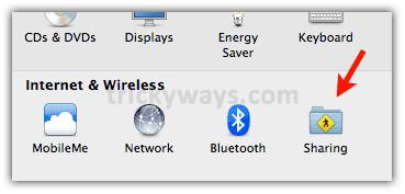Mac folder  sharing