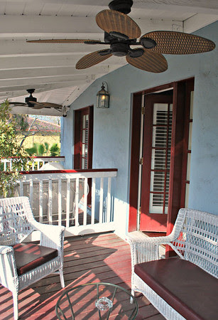 Balcony and Ceiling Fan of Room #19 at the Casablanca Inn