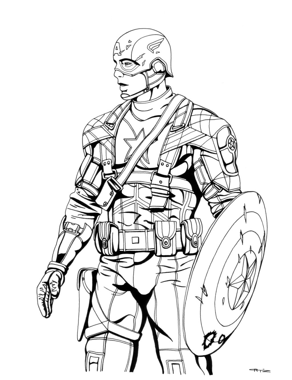 Free Captain America Coloring Pages At Getdrawingscom Free For
