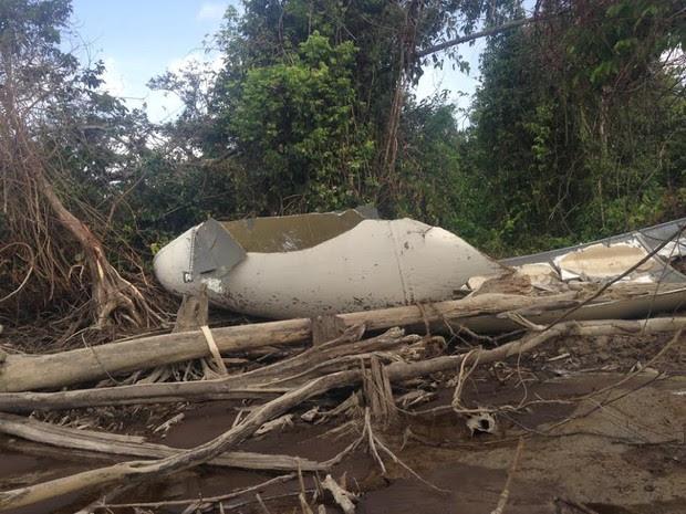 Destroços de avião encontrado na costa do Amapá