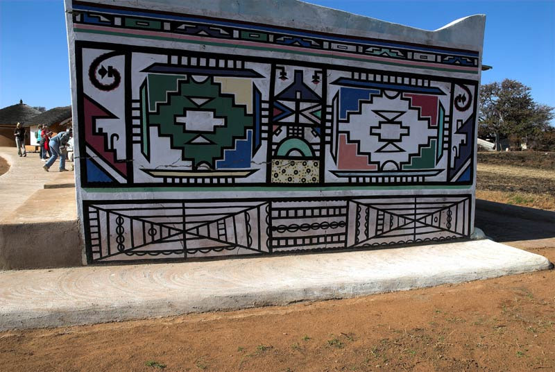 Image result for Nzunza Ndebele murals