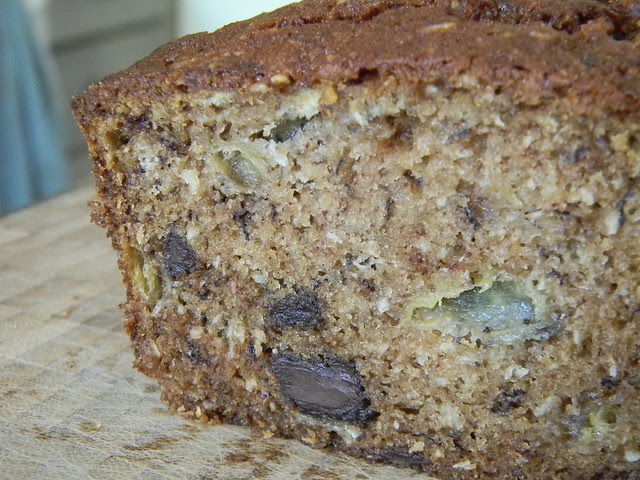 Chocolate Chip and Cococnut Banana Bread