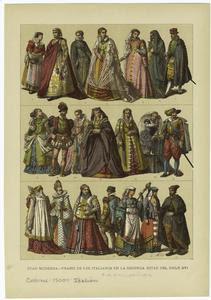 Edad moderna -- trajes de los ... Digital ID: 811497. New York Public Library