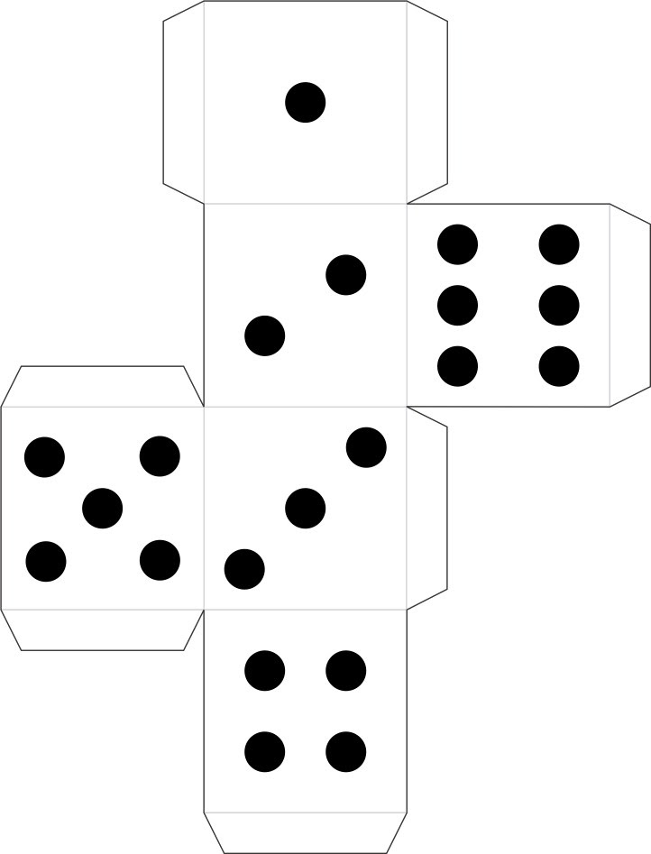 Printable Dice for Detective Badge and other games ...