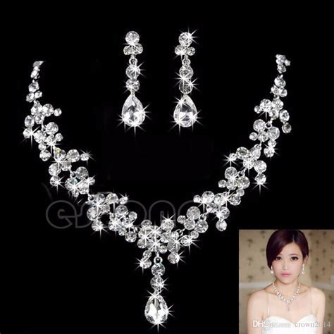 2017 Hot Women Fashion Bridal Rhinestone Crystal Drop