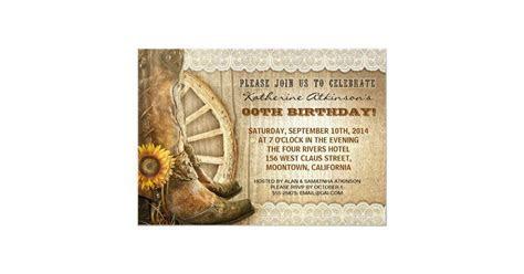 country cowboy style birthday invitations   Zazzle.com