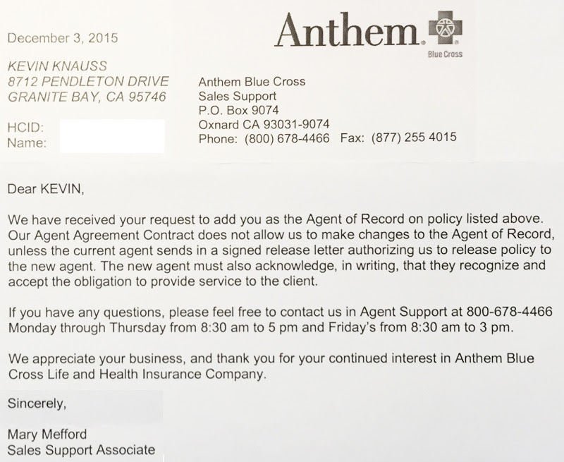 Anthem Blue Cross denies Covered California consumers ...