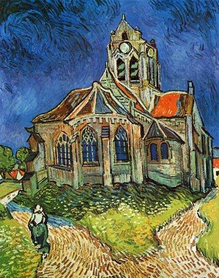 Vincent Van Gogh - La iglesia de Auvers-sur-Oise