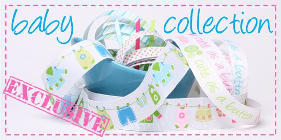 Baby ribbon collection, exclusive to Crafty Ribbons