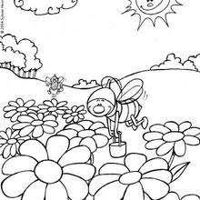Dibujos Para Colorear Las Abejas Eshellokidscom