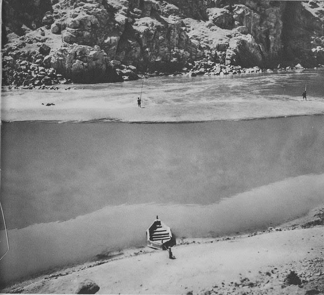 Pescadores en la zona del embarcadero del Diamantista a principios del siglo XX