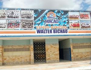 Estádio Walter Bichão, em Macau - RN (Foto: Divulgação/Prefeitura de Macau)