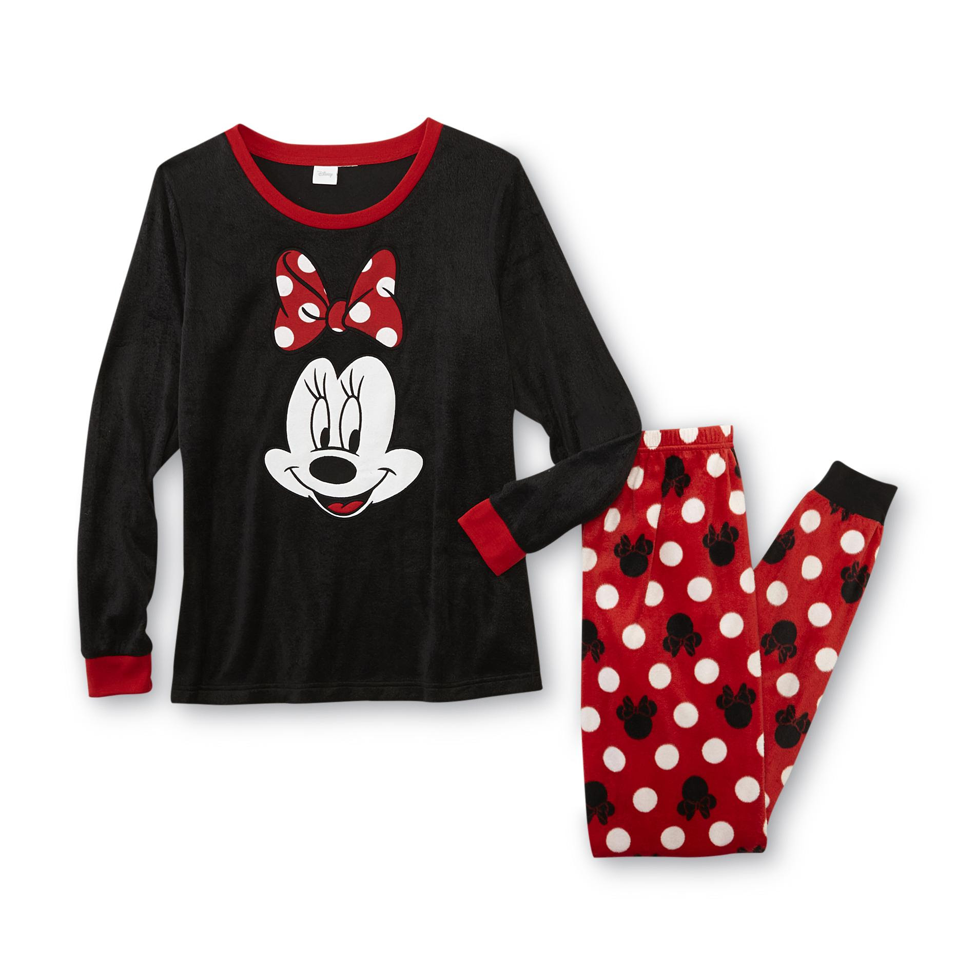 disney minnie mouse women's pajama top  pants  clothing