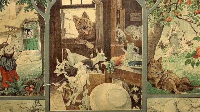 der wolf und die sieben geißlein ausmalbild  ausmalbilder