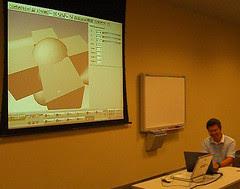 Sausheong giving a demo on FxRuby
