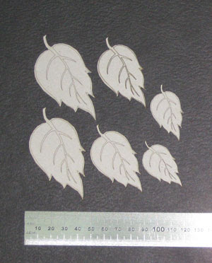 Winter Leaves (unit of 3)