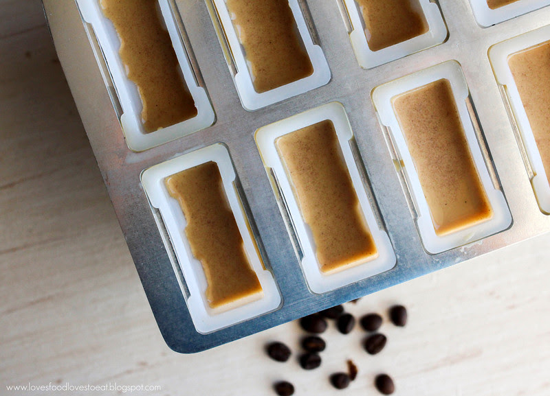Creamy Coffee Popsicles: Loves Food, Loves to Eat