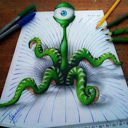 Απίστευτη 3D τέχνη σε χαρτί από έναν 17χρονο (4)