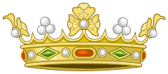 Heraldic Crown of Spanish Marqueses (Variant 1)