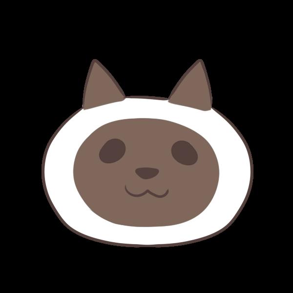 シャム猫のイラスト かわいいフリー素材が無料のイラストレイン