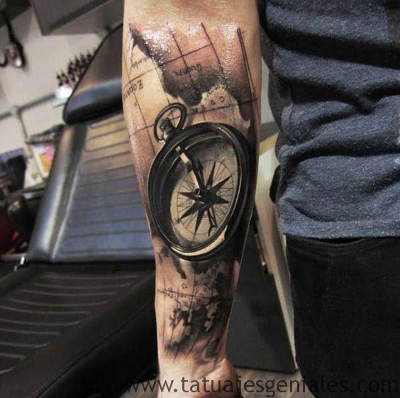 60 Tatuajes De Brújulas Significados E Imágenes Tatuajes Geniales