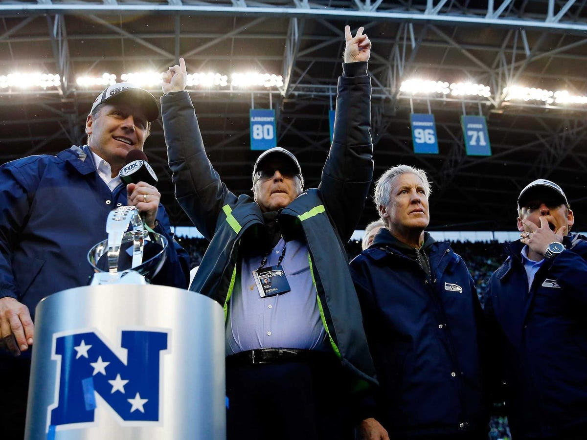 """His Seahawks will get another chance at a championship when they head to the Super Bowl this Sunday. """"The first time you go you're kind of amazed to be there,"""" he told the Seattle Times. """"The thing is, once you're in the Super Bowl, you want to win. As time goes on, you want to win more and more."""" It seems like he's ready for the post-game celebrations — he reportedly had a custom amplifier made just for the occasion, with knobs that go all the way to 12."""