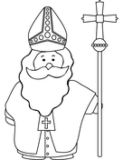 Zwarte Piet and St. Nicholas coloring page  Free Printable Coloring Pages