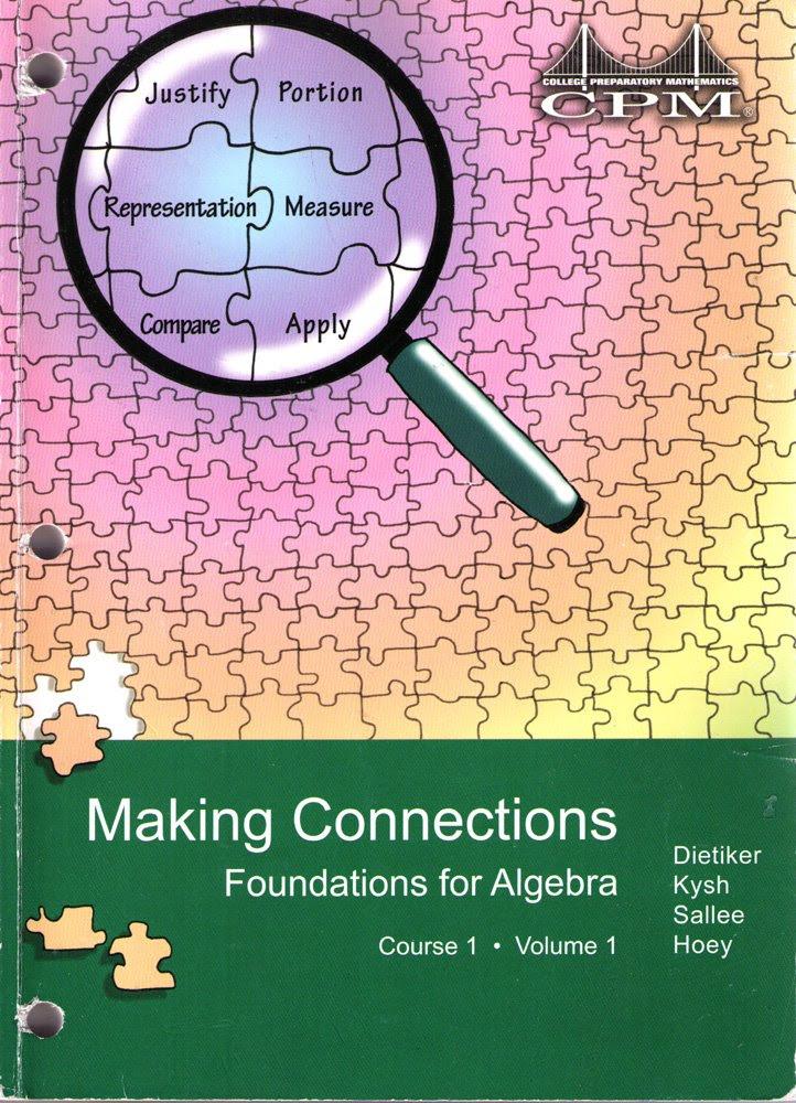 Foundations for Algebra Course 1 Volume 1 Version 2.0 (College ...