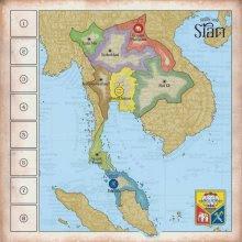 Board of the game König von Siam