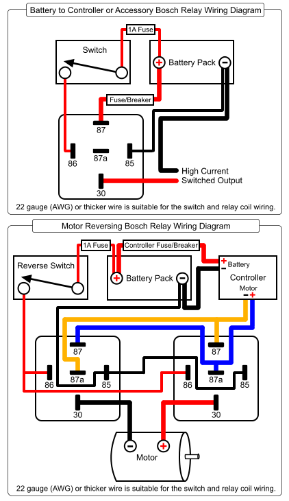 Bosch Relay Wiring Png